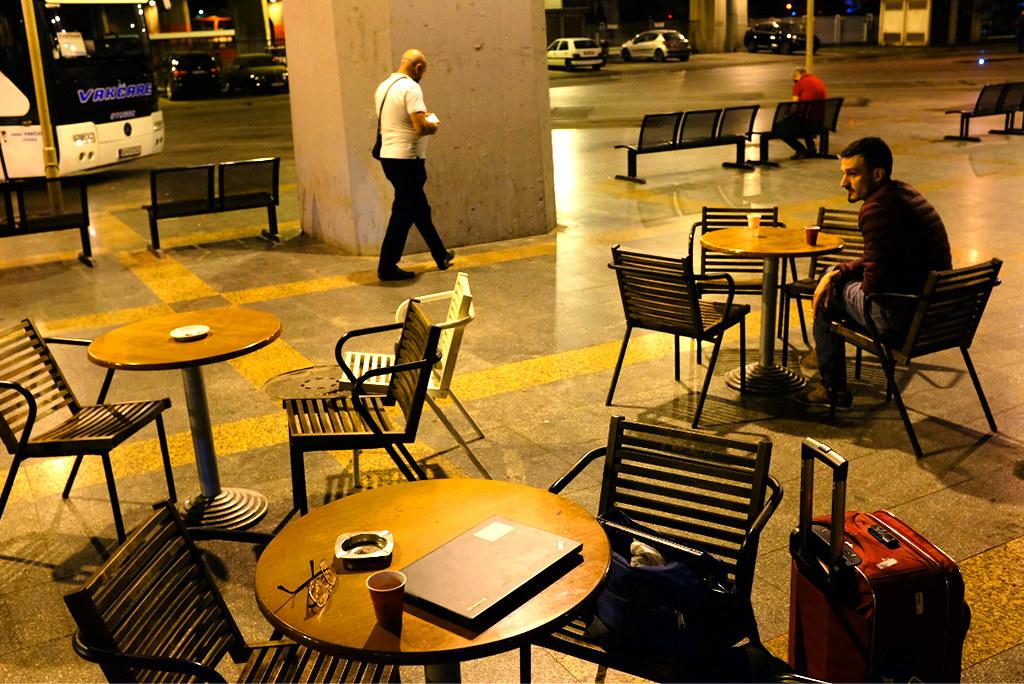 Bus station at 5-24AM on 9-23-20--Skopje