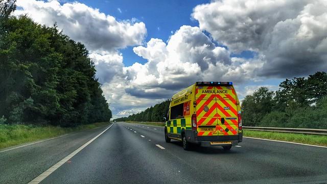 Fiat Ducato Ambulance, M18, South Yorkshire.