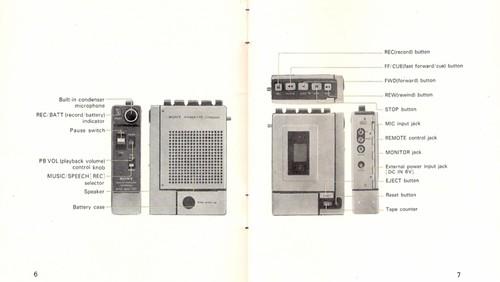 From the SONY TC-55 instruction manual.