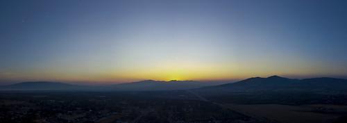 sunset oqirrh silhouette utah mountains bluehour