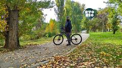 El bici por parque Butarque
