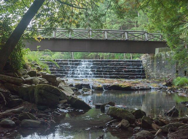 Footbridge and Dam at Swimming Pond, September 2020 (D700)