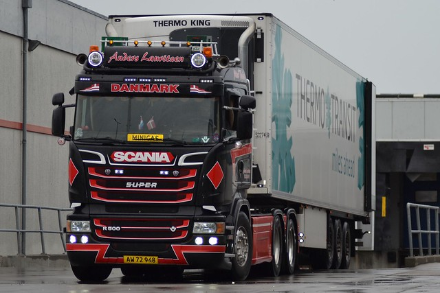 Scania R 500 V8 - Miss Topløs - Anders Lauritzen Hjørring - Thermo-Transit miles ahead - AW 72 948 - Ex VSB Groep Trucks & Trailers Druten
