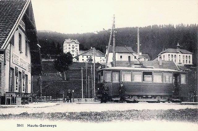 Trams du Val de Ruz (Suisse)