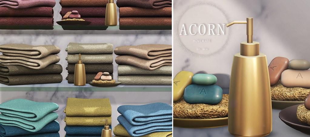 ACORN Towel and Soaps set