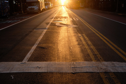 Sun rising through 42nd Street | by Inklaar