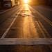 Sun rising through 42nd Street