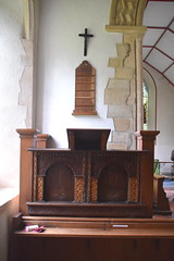 marquetry pulpit desk
