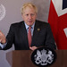 UK Prime Minister posted a photo:21/09/2020. London, United Kingdom. Boris Johnson UNGA Speech. The Prime Minister Boris Johnson in the White Room of No10 Downing Street filming his speech to the UN during Covid-19 Picture by Andrew Parsons / No 10 Downing Street