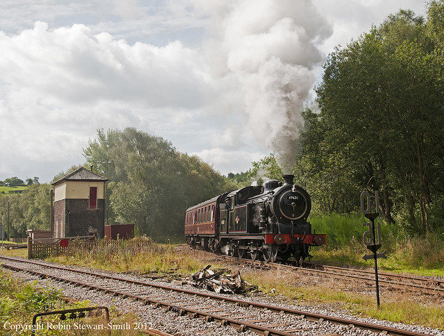 LNER Class N7 No 69621 approaches Leek Brook Junction on 31st August 2012