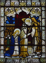 Annunciation (James Hogan for Powell & Sons, 1926)