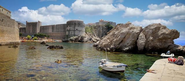 Massive Oceanside fortress Tvrđava Boka of Dubrovnik