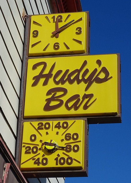 WI, Superior-Hudy's Bar Sign