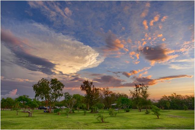 Early wet season sunset - Dripstone Cliffs Park, Brinkin, Darwin, NT, Australia