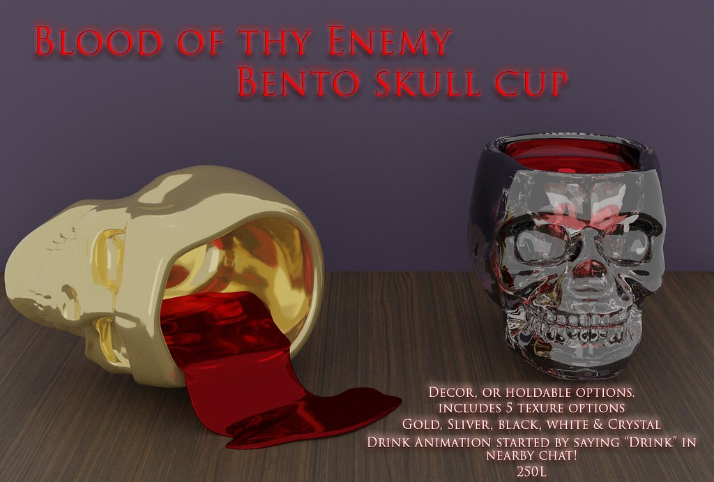 Blood if thy Enemy Skull cup – Sanarea exclusive