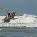 Omroep Zeeland posted a photo:Door rianne lous, grijpskerkehoge golven, man in kano, trotseert de zee, strand, stoer, gedurfd