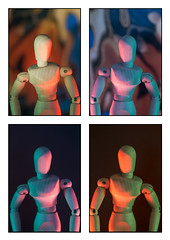 Mannequin collage grid