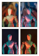 Mannequin collage grid