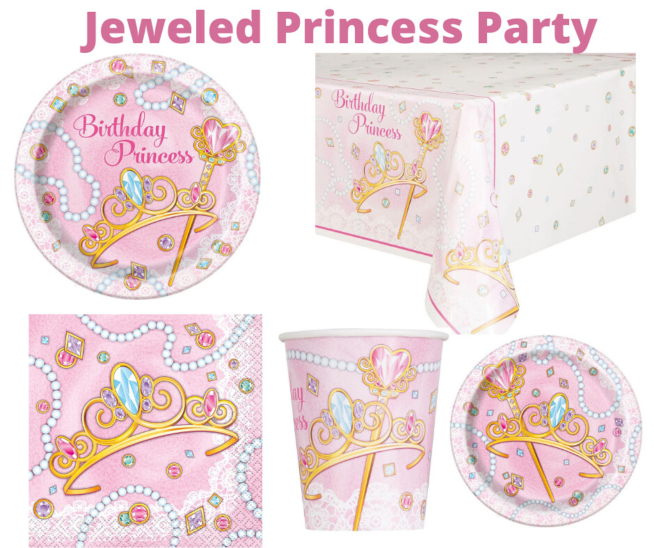 Jeweled Princess Party Supplies by Unique