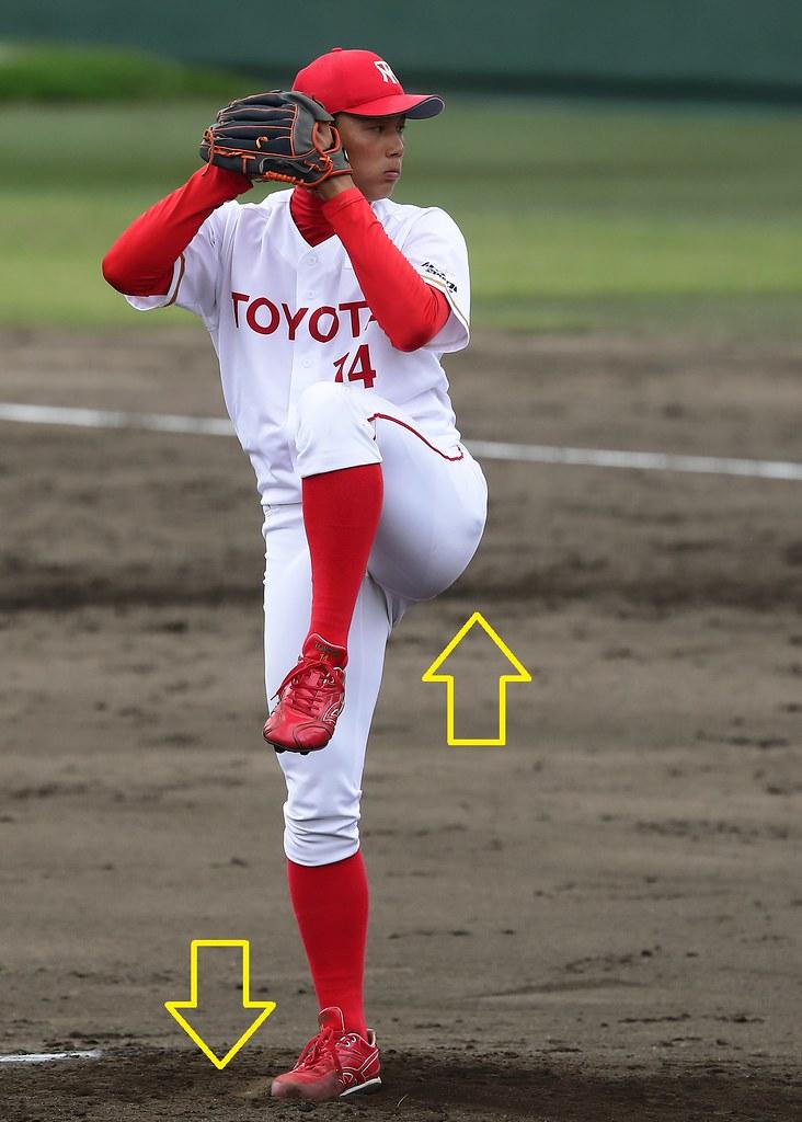 栗林良吏投手(トヨタ自動車)の投球フォームに関する考察① : STANDING TRIPLE