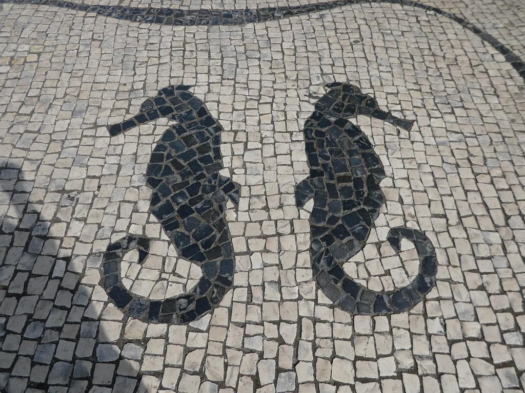Pavement art on the streets of Aveiro