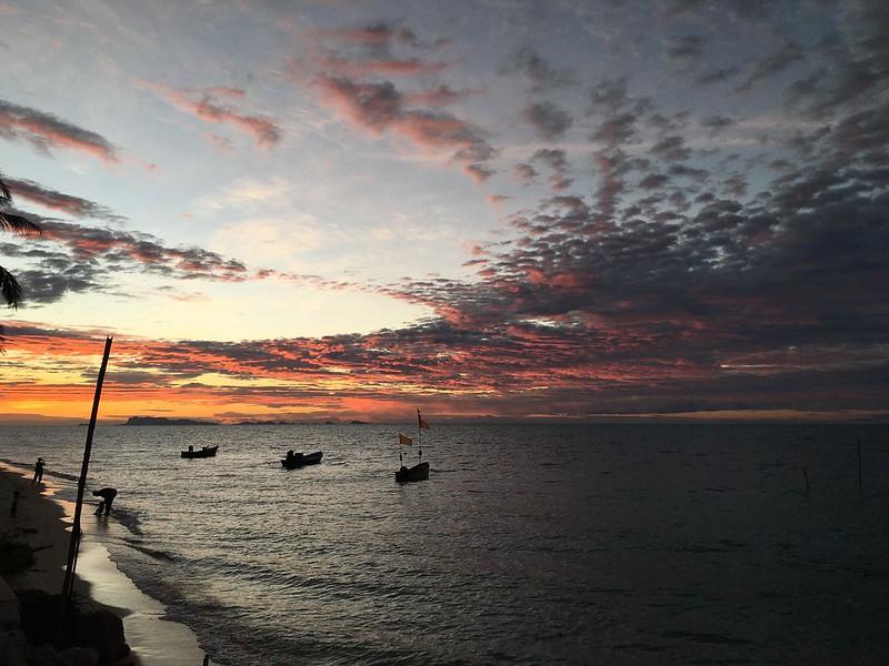 サムイ島 美しい夕焼け 夕景