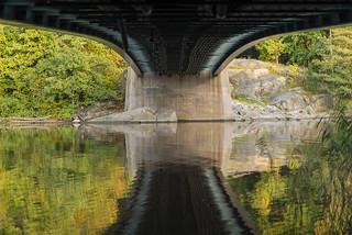 reflection under the bridge