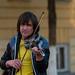 Street violinist in Orenburg