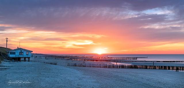 Sunset on the Domburg beach