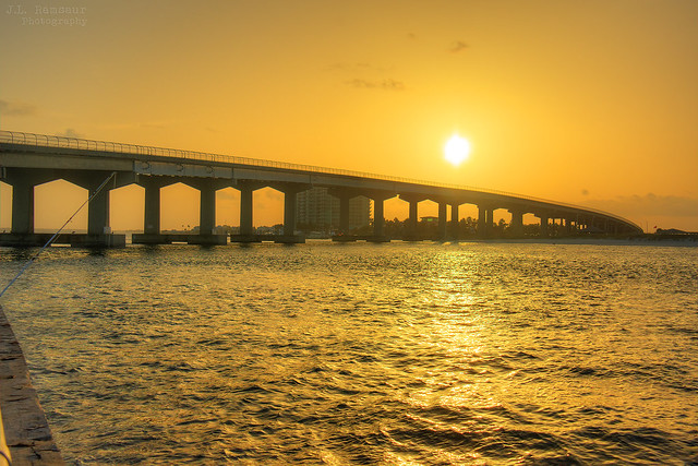 Perdido Pass Bridge Sunrise - Orange Beach, Alabama