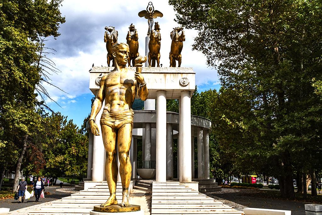 Prometheus and Nike on 9-26-20--Skopje
