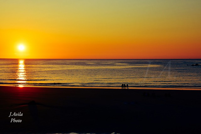 Amanecer en Noja, Playa de Trengandin