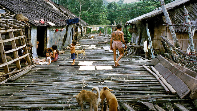Life in a traditional Iban longhouse