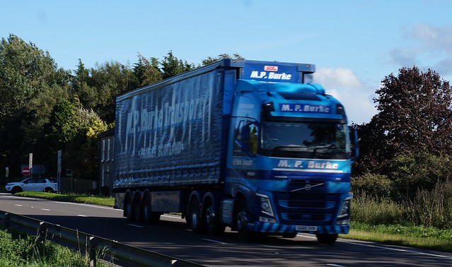 9 DSC06739. A66 Trucks, Hargill, North Yorkshire. MP Burke, Paisley, Scotland. Volvo..
