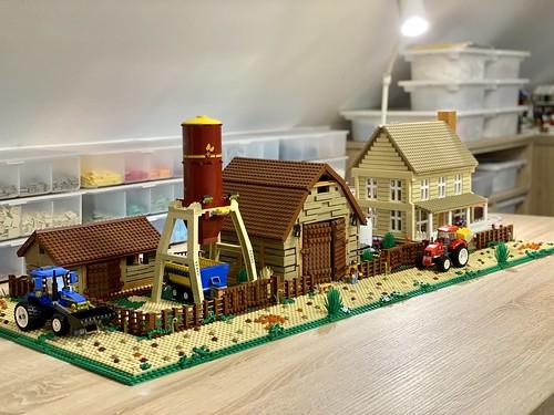 Farmland diorama WIP