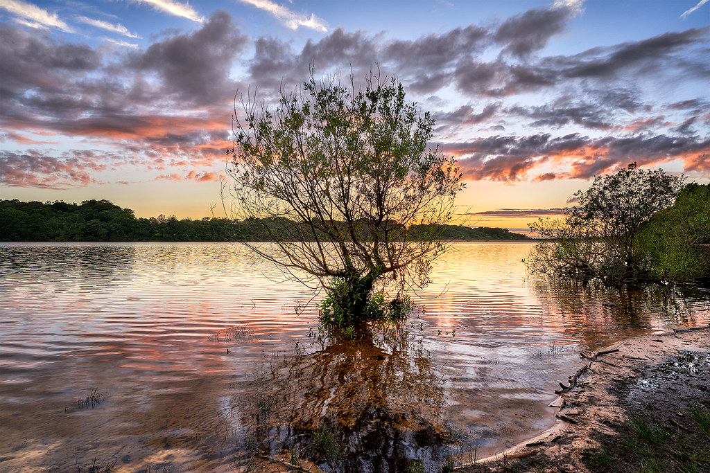 Rivington reservoir sunset