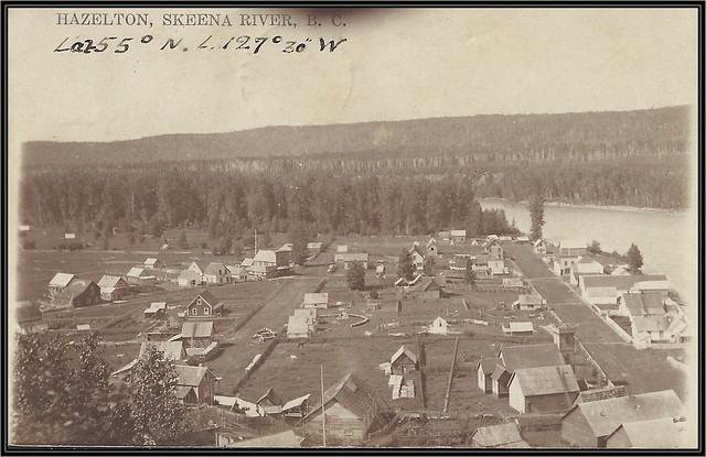 c. 1908 Real Photo Postcard - View of the Town of Hazelton Situated on the Skeena River in British Columbia