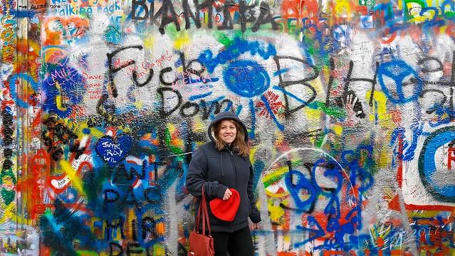 Lennon Wall, Prague 2017