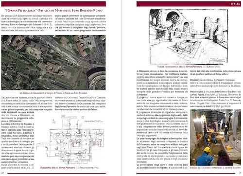 """ROMA ARCHEOLOGICA & RESTAURO ARCHITETTURA 2020. ROMA, L'AREA VELIA & METRO C (2015-20); in: """"Horrea Piperataria"""" (B. di Massenzio), pp. 28-29; La Sapienza / Roma (2019) & D. PALOMBI, """"PROGETTO VELIA""""; ScAnt 25.1 (2019): 89-100 & IL MESS(07/11/2019)."""