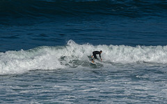 Surfing at Sopela