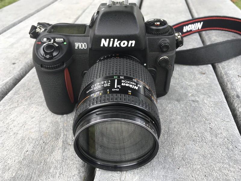 Nikon F100, the latest addition to the fleet.
