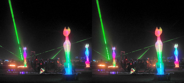 Burning Man 2019 - Cathenge 3D Cross-View