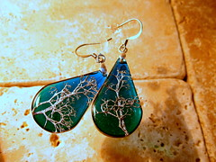 Reindeer Lichen earrings