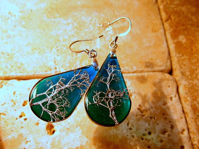 Reindeer Lichen earrings