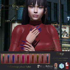 .:: SO ::. GIFT Bento Nails Mesh Ballerina Long Ray