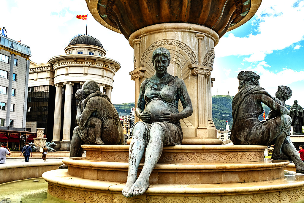 Mothers of Macedonia Fountain on 9-26-20--Skopje 2