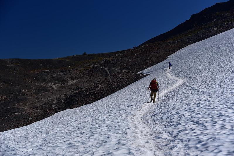 Crossing snow