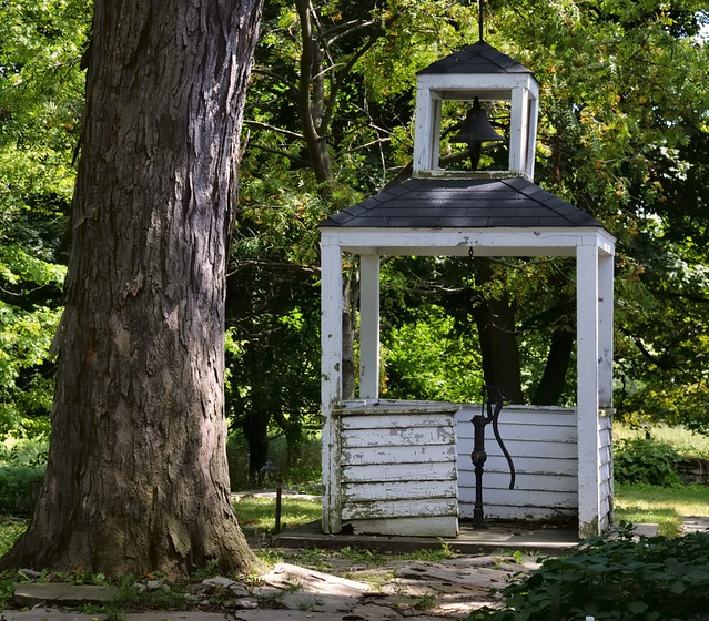 Derelict pump and bell house - Scotsdale Farm, Halton Hills, Ontario