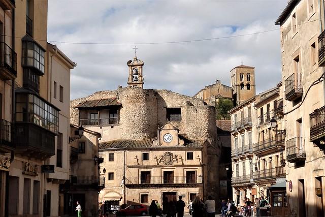 Sepúlveda - Plaza de España, Ayuntamiento -  Segovia