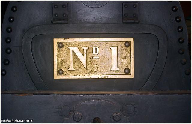 Engine No 1 Number Plate, Transport Museum, Lujan, Argentina.